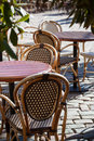 Street view of a coffee terrace Stock Photos
