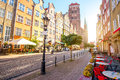 Street view in Gdansk Royalty Free Stock Photo