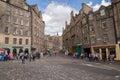 Street view of Grassmarket Street, Old Town, Edinburgh, Scotland