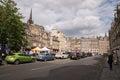 Street view of Grassmarket Street and Square, Old Town, Edinburgh, Scotland