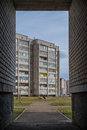 Street view of the high rise buildings in polotsk Royalty Free Stock Photos