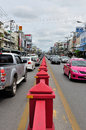 Street View of Hua Hin City Stock Photos