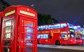 Street view in london uk sep with iconic telephone box on september uk is the world s most visited city and Stock Images