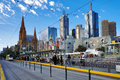 Street view of melbourne a Royalty Free Stock Photo