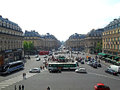 Street view from the Opera Garnier balcony Royalty Free Stock Photo