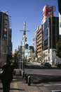 Street walk in tokyo early december afternoon december Royalty Free Stock Image