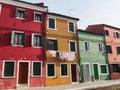 Street and washing - Burano Royalty Free Stock Photo