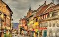 Street in Wasselonne - Bas-Rhin, France Royalty Free Stock Photo
