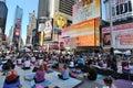 Street Yoga Royalty Free Stock Photo