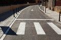 Street zebra crossing city and in brasov Royalty Free Stock Photography