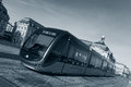 Streetcar in Bordeaux, Gironde Stock Photo