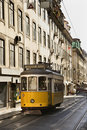 Streetcar in the City of Lisbon Stock Photos