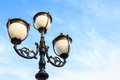 Streetlamp detail of with blue sky in morning Stock Photography