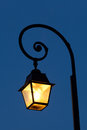 Streetlamp fontainebleau seine et marne ile de france france Royalty Free Stock Images