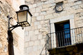 Streetlamp in the old quarter of Caceres Royalty Free Stock Photo