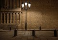 Streetlight in barcelona beautiful front of old building Royalty Free Stock Photos
