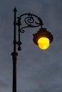 Streetlight Lit at Dawn