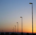 Streetlights image of at sunset Royalty Free Stock Photography