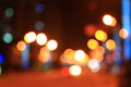 Streetlights night city street lights bokeh background Royalty Free Stock Photography