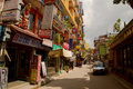 The streets of the backpacking area of thamel kathmandu nepal Royalty Free Stock Photography