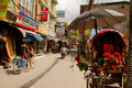 The streets of the backpacking area of thamel kathmandu nepal Stock Photography