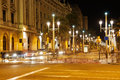 The streets of the city at night Royalty Free Stock Photo