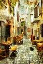 Streets of Croatia Royalty Free Stock Photo