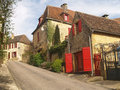 The streets of dome french town in dordogne Royalty Free Stock Image