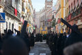 The streets of downtown procession to gothic cathedral Stock Images