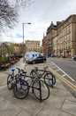 Streets in edinburgh usual morning weekday is the capital city of scotland situated lothian on the southern shore of the Royalty Free Stock Photography