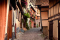 Streets of Eguisheim Stock Photos