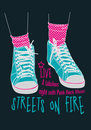 Streets on fire Royalty Free Stock Images