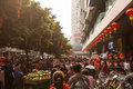 Streets of Guangzhou, China Royalty Free Stock Photo