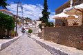 The streets of idra one town on island hydra greece Royalty Free Stock Photo