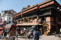 Streets of Kathmandu Stock Photography