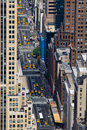Streets of Manhattan, New York City Royalty Free Stock Image