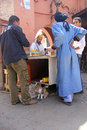 The streets of marrakech a narrow alley marrakesch a handful men and a cat Stock Image
