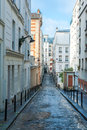 Streets of montmartre beautiful with its stunning architecture paris france Stock Images