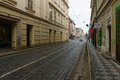 The streets of old prague czech republic february is capital and largest city czech republic Stock Photos