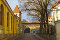 Streets of old tallinn estonia europe Royalty Free Stock Images