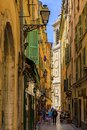 Streets in the Old Town of Nice France