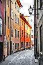 Streets of old town stocholm sweeden Royalty Free Stock Photo