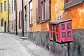 Streets of old town stocholm sweeden Stock Photos