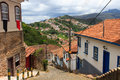 Streets of ouro preto brazil is a city in the state minas gerais a former colonial mining town the focal point the gold rush Royalty Free Stock Photography
