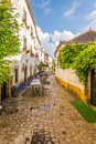In the streets of the picturesque town of Obidos in Portugal