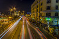 Streets of piraeus in port view from footbridge Stock Photos