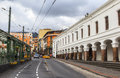 Streets of quito central ecuador this photo was taken in at pm s capital sits high in the andean foothills at an altitude m Stock Photography