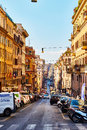 Streets of rome are full of traffic and people throughout the day in rome italy october italy on october Royalty Free Stock Photography