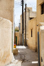 Streets saiq plateau of small village on in oman Stock Photo