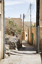 Streets saiq plateau of small village on in oman Stock Photography